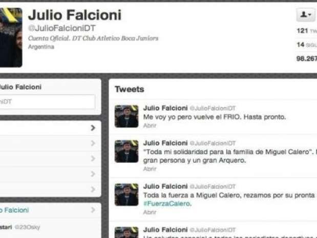 El tweet de la polémica fue borrado rápidamente peor el DT no aclaró si su cuenta fue o no hackeada Foto: Captura de Pantalla