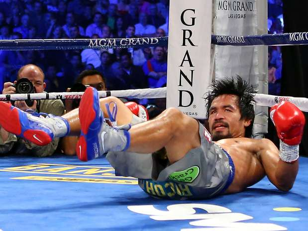 Manny Pacquiao con una impresionante derrota ante Juan Manuel Márquez. Foto: Getty Images