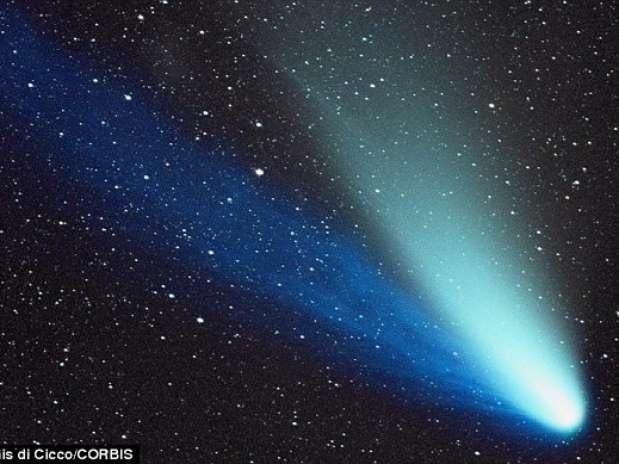 Imagen del cometa. Foto: Daily Mail/Dennis di Cicco/CORBIS