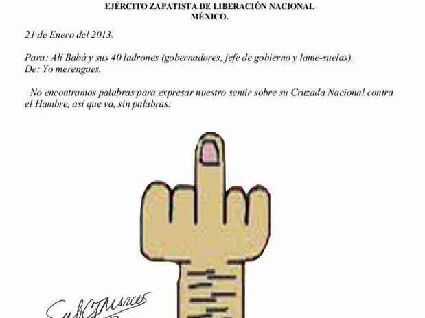 Imagen del comunicado del EZLN Foto: Especial