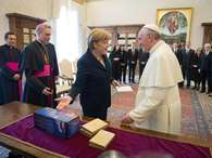 Las imgenes de la visita de Merkel en el Vaticano.
