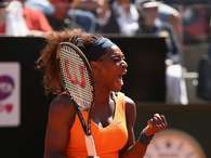 Serena Williams supera a Victoria Azarenka en Roma. Foto: Getty images
