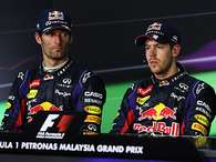 Webber y Vettel, entre los compaeros que se odian en la F1. Foto: Getty Images