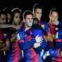 Messi, son and Barça celebrate title (photos). Photo: Getty Images