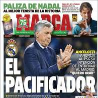 El 'pacificador' Ancelotti y la Liga de Tito y Abidal, en las portadas.