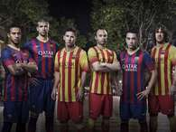 Barcelona presenta sus uniformes para la prxima temporada. Foto: Divulgacin