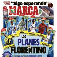 Los planes de Florentino y Neymar, en las portadas de la prensa.