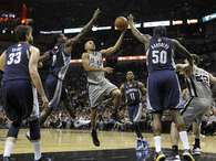 Spurs escape with OT win after blowing lead to Grizz (pics). Photo: MIKE STONE / REUTERS