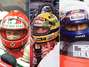 Hamilton, Senna, best racing helmets (photos). Photo: Getty Images