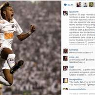 Neymar tweets he will join Barça; Champs final in posts. Photo: Instagram