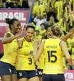 Grand Prix: Brasil vira contra EUA e fecha primeira fase com 3 vitórias