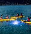Caiaque especial oferece visão noturna do mar de St Thomas