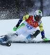 Brasileiro é desqualificado do slalom; austríaco leva ouro