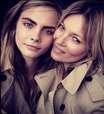 Cara Delevingne e Kate Moss posam juntas para campanha