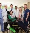 Lais Souza volta ao Brasil pela 1ª vez após grave acidente