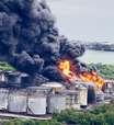 SP: chamas consomem tanques de combustíveis em Santos