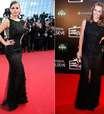 Carolina Dieckmann repete vestido usado por Milena Toscano