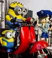 """vc repórter: Minions """"posam"""" com motocicletas para ensaio"""