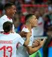Veja as fotos de Sérvia x Suíça pelo grupo do Brasil na Copa