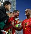 Belgas veem jogo contra Brasil como uma revanche de 2002