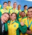 Bolsonaro recebe medalhistas do Pan no Palácio do Planalto