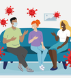 Covid-19: tabela ajuda a avaliar risco de infecção cada vez que você vai a um evento social