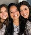 Marquezine aparece ao lado da irmã e da mãe com o mesmo look