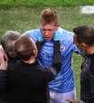 De Bruyne tem fraturas no rosto após choque na final