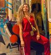 Grazi Massafera usa look vermelho: 'é a cor mais quente'