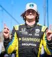 """Pole, Herta vibra em Laguna Seca e brinca: """"Mario Andretti está feliz porque bati Power"""""""
