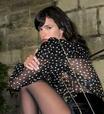 Bruna usa shorts, meia-calça e poás em look de R$ 46 mil