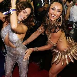 Celebridades marcam presença nos desfiles na Sapucaí; veja