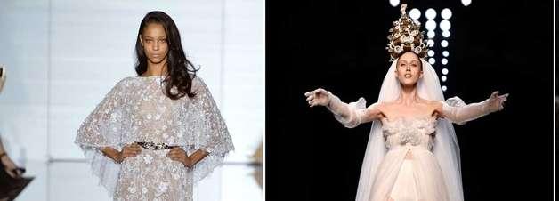 Noivas ousadas: veja 23 vestidos da alta-costura de Paris