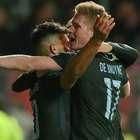 Trio marca, City vence e espera Chelsea ou Arsenal na final