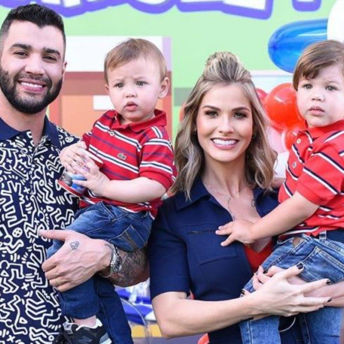 Gusttavo Lima explica por que não faz comerciais com os filhos: 'Tão  novinhos'