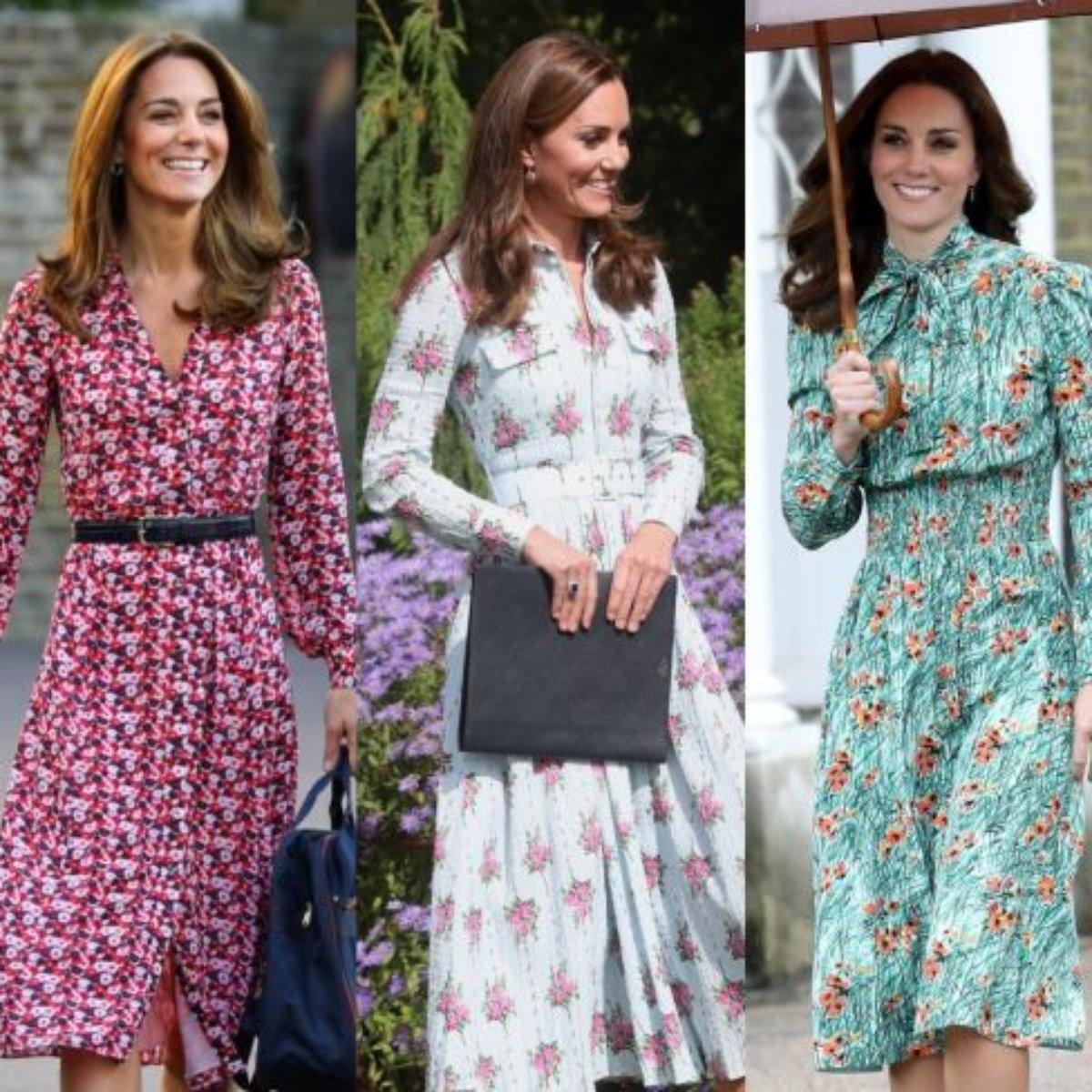 Veja Os Vestidos Florais De Kate Middleton Para Você Apostar