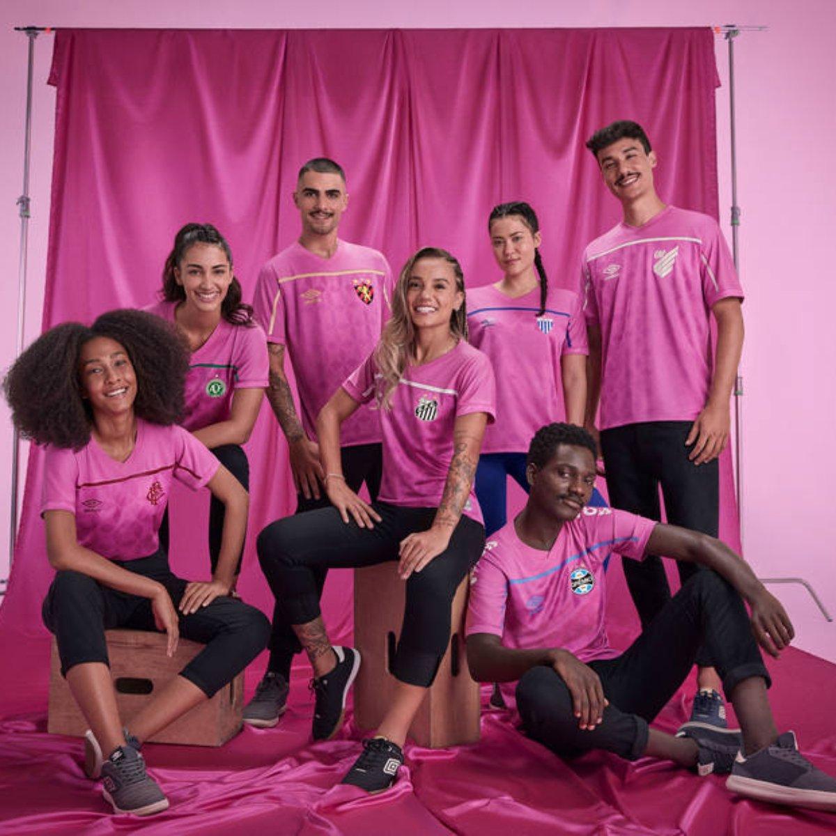 Clubes Do Brasileirao Lancam Novas Camisas Em Campanha Do Outubro Rosa