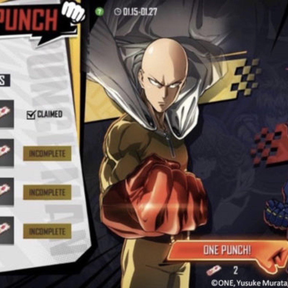 Free Fire Tera Novos Itens Em Evento De One Punch Man