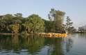 Lago Menor, no Parque Chapultepec, que fica em uma das regiões mais nobres da Cidade do México