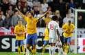 Ibrahimovic foi o grande nome da vitória da Suécia contra Inglaterra, em amistoso disputado em Estocolmo, nesta quarta-feira. Ele fez os quatro gols da vitória sueca por 4 a 2