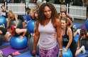 Serena Williams reuniu fãs ao lançar o aplicativo Nike Training Club, que traz uma série de exercícios praticados pela atleta