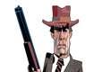 Clint Eastwood virou cartoon pelos traços de Carvall