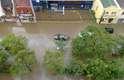 Chuva alagou diversos pontos da região metropolitana de Florianópolis neste sábado