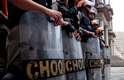 Segurança foi reforçada em frente à prefeitura após os protestos que terminaram em confronto na última semana