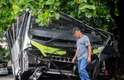 3 de abril O ônibus que caiu de um viaduto no Rio de Janeiro passa por análise da perícia