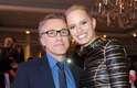 O ator Christoph Waltz e a modelo Karolina Kurkova curtiram a noite do último domingo (19) na festa For the Love of Cinema, no Festival de Cannes