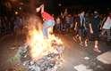 De acordo com o assessor de comunicação da Polícia Militar goiana, tenente-coronel Walter Caetano Pereira, as prisões ocorreram porque os manifestantes portavam coquetéis molotov, pedras e paus, e foram registrados ataques a policiais, ônibus e uma agência bancária