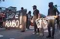 Os manifestantes seguiram em direção à subprefeitura da região