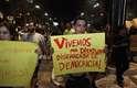 Segundo estimativa da Polícia Militar, a manifestação reuniu 250 pessoas