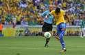 Neymar abriu o placar para o Brasil com um golaço de perna esquerda diante do México